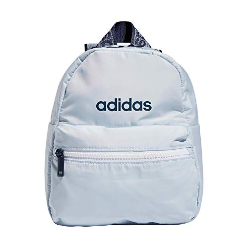 adidas Linear 2 Mini Backpack Small Travel Bag, Blue/Halo Blue/Crew Navy, One Size