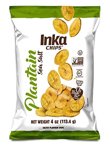 Inka Crops Inka Chips, Seasalt Plantain Chips, 4 Ounce (Pack of 12)