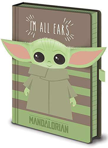 Star Wars Cuaderno 3D con diseño de Yoda de bebé, multicolor, Talla única
