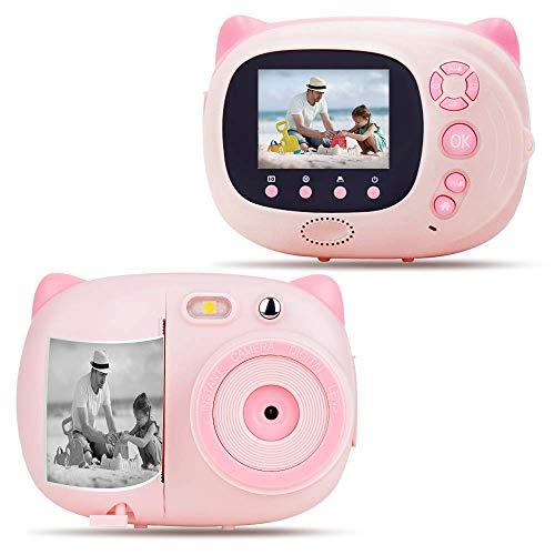 QCHEA Cámara niños de impresión instantánea cámara Digital con Cero Tinta de impresión for Niñas y Niños, la cámara de WiFi a los niños, 2.4inch Pantalla LCD, el Enfoque automático