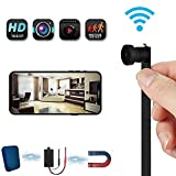 Spy Camera WiFi Wireless Mini Hidden Camera HD 1080P Cam Small Nanny Camera 120 Degree Wide-Angle Lens Security Camera for Home and Outdoor (with Cell Phone APP)
