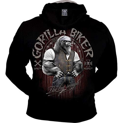 Gorilla Biker Textil Herren Kapuzenjacke (GB68 Keep Cool) Größe 4XL