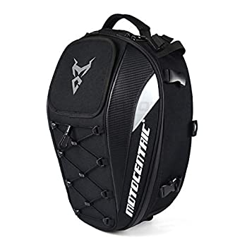 Motorcycle Seat Tail Bag Backpack Dual Use Motorbike Rear Seat Bag Motorcycle Waterproof Helmet Bag  Gray