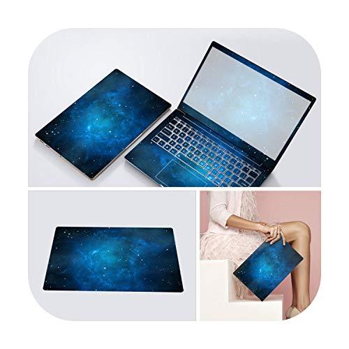 3 lados de la cubierta de la cubierta del portátil pegatinas para Xiaomi Lenovo Dell Asus HP 14 15.6' Calcomanía del ordenador portátil calcomanía protectora de la funda