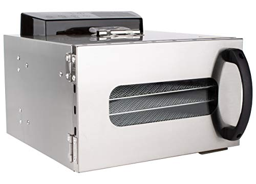 Beeketal 'BDA-6' Dörrautomat aus Edelstahl mit 6 Etagen, Zeitschaltuhr (max. 24h), einstellbarer Temperatur (30-90 °C) und LED Bedienfeld - Profi Gastro Dörrgerät inkl. 6 Einlegegitter