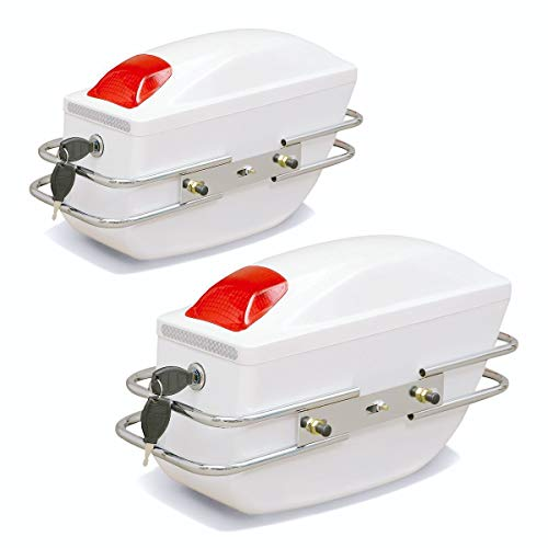 Cajas Laterales Universales De La Motocicleta Equipaje Tank Tail Tool Bag Hard Funda De Silla De Montar Tronco Lateral para Honda/Yamaha/Suzuki (Color Name : White)