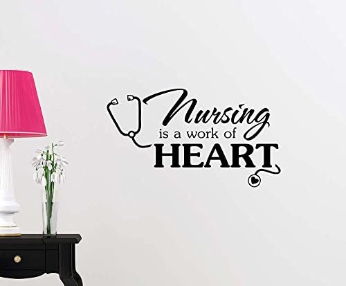 Simple Expressions Arts Wall Vinyl Decal Nursing is a Work of Heart Cute Inspirational Family product image