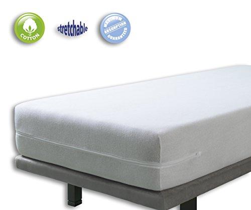 Funda colchón rizo elástica. Cama 90x190(200)