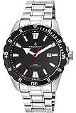 Reloj Radiant para Hombre con Correa Plateado y Pantalla en Negro RA480201