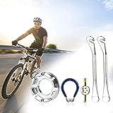 LYTIVAGEN 5 PCS Llave de Radio de Bicicleta Llave de Rueda de Bicicleta con Palanca de Neumático, Extractor de Válvula para Reparar Radios de Bicicleta 10-15G