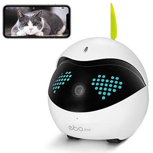 Enabot Ebo Pro Familybot Security Surveillance Robots, Smart Pet Camera, IP Camera, Petpal Live Video, Pets Companion (Ebo Pro)