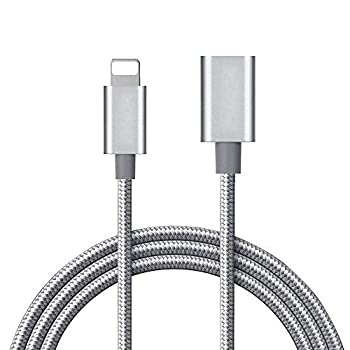 MeloAudio 3.3FT Braid Extension Cord Cable Charging Sync Video & Audio Compatible with iOS Devices  Phone/Pad/Pod  Male to Female Dock Cable Extender Connector Case Adapter