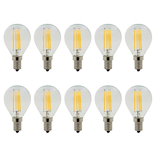Preisvergleich Produktbild 10er,  E14 4W LED Filament Glühfaden Birne Edison Glühbirne G45 Mini Globe Lampe,  Warmweiß 2700K,  350LM,  Nicht Dimmbar,  Ersatz für 40W Glühlampen