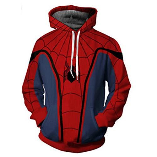 GYMAN Spiderman Hoodies Windproof Pullover Child Adult 3D Print Unisex Long Sleeve Coat Pullover Hoodies Sweatshirts With Kangaroo Pocket,2-5X