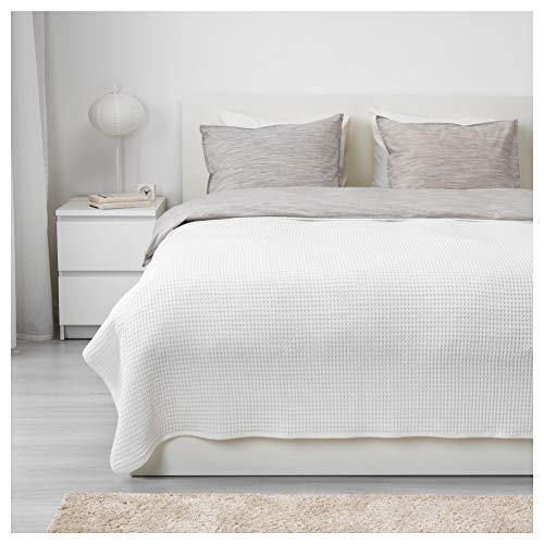 IKEA VARELD Tagesdecke in weiß; 100% Baumwolle; (230x250cm)