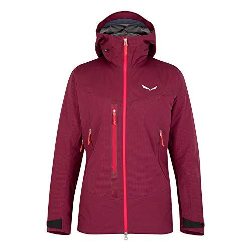 Salewa W Sella Responsive Jacket Rot, Damen Windbreaker, Größe 40 - Farbe Rhodo Red