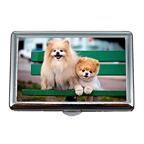 Fashion Business Zigarettenschachtel, Happy English Bulldog Puppy Boo Hund, Kredit Visitenkartenhalter Fall Aufbewahrungsbox