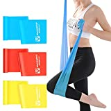 Resistance Bands Set, Exercise Bands, 3 Levels Weight TPE Elastic Bands for Upper & Lower Body & Core Exercise, Physical Therapy, Lower Pilates, at-Home Workouts (3pcs)