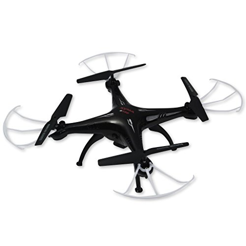 Syma X5SC-1 Drone Falcon Quadcopter RC (360 Degrees, 4CH 6 Axis, 2.4G, 720P Camera, Colorful LED Flashing Lights, Aerial Photo) - Black