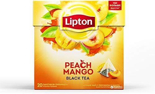 Lipton Té Mango y Melocotón - 20 Pirámides (4 Cajas: 80 Pirámides)