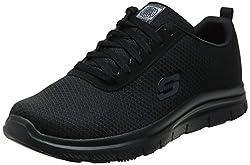 commercial Skechers Work Flex Advantage SR – Bendon Black Mesh / Water / Stain Protection 8.5 D (M) flat feet running shoes