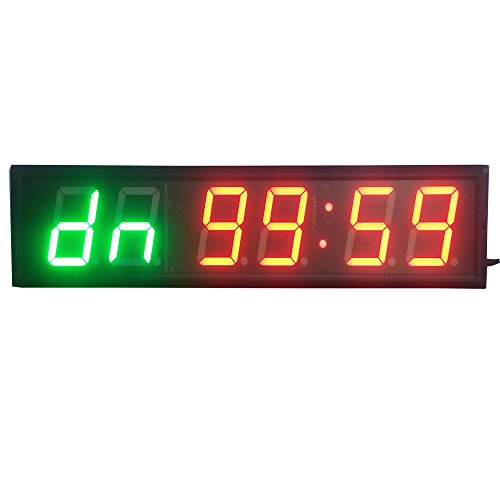 HongHao 4inch 2G4R Gym Timer LED Interval Timer Training Time and Rest Time Alternate CountdownCount up As A Stopwatch