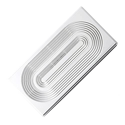 Ventiladores de baño 30 × 6 0CM Potente ventilador ventilador integrado techo de escape rectangular cocina de alta potencia y ventilador de ventilación ventilador, blanco, 60w Extractor de aire