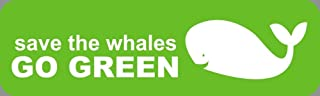 HZ Graphics Save The Whales GO Green Green Vinyl Decal Wall Laptop Car Bumper Sticker 5