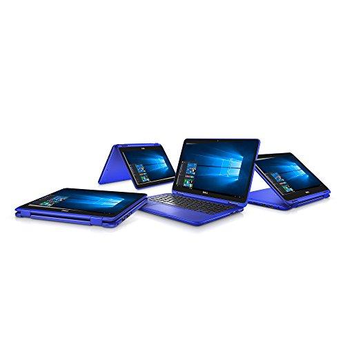 "Dell i3168-3271BLU 11.6"" HD 2-in-1 Laptop (Intel Pentium N3710 1.6GHz Processor, 4 GB DDR3L SDRAM, 500 GB HDD, Windows 10) Bali Blue"