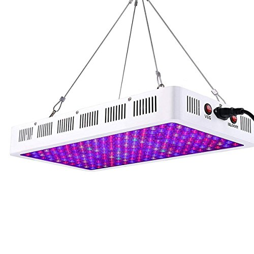 Niello Lámpara de Cultivo de Plantas 1000w, luz de Crecimiento LED de la Serie de Lentes ópticas, luz de Planta de Espectro Completo con IR UV para Plantas de Interior Veg y Bloom