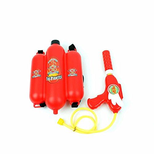 Gifts 4 All Occasions Limited 35,6 cm brandweerpistool pomp actie krachtige supersoaker kanon met rugzak tank kinderen strand speelgoed waterpistool sproeier zomer outdoor plezier multifunctioneel