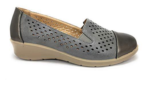 BUONAROTTI Zapato CUñA PICADO Mujer COMOD - Mujer Color Gris Talla 36