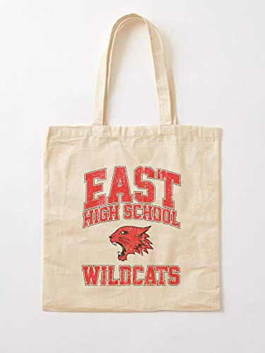 High Tisdale East Ashley Hudgens Tv Sharpay School Wildcats Gabriella Montez Vanessa Evans Tote Cotton Very Bag | Canvas Grocery Bags Tote Bags with Handles Durable Cotton Shopping Bags