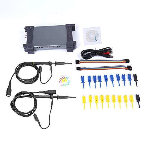 6022BL PC Osciloscopio USB 20MHz Ancho de banda 48MSa/s 1M Profundidad de memoria 2 Analizador lógico digital + 16 canales lógicos