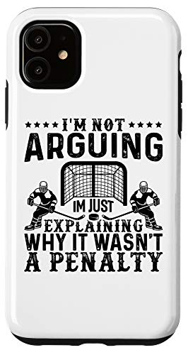 iPhone 11 Hockey Player Arguing Gift Funny Hockey Case