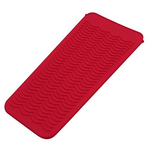 Funda de silicona resistente al calor para plancha plana, varita rizadora, onda caliente, aparatos de herramientas de salón, alfombrilla de calor portátil, funda de almohadilla para rizar