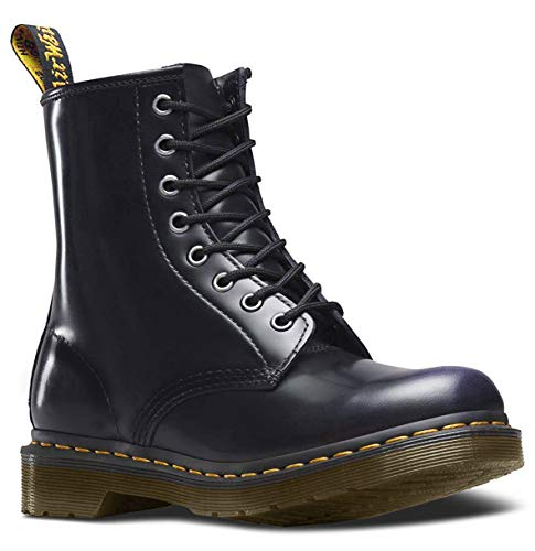 Dr. Martens 1460 Milled Smooth, Scarpe Stringate Basse Brogue Unisex-Adulto, Nero, 37
