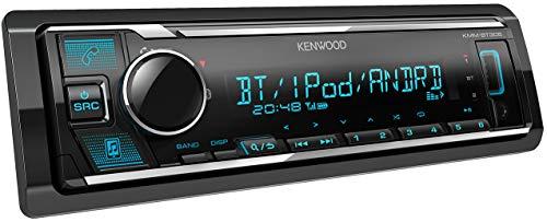 Kenwood KMM-BT305 USB-autoradio met bluetooth handsfree (soundprocessor, MP3, Spotify Control, 4x50 watt, instelbaar kleuren), Zwart
