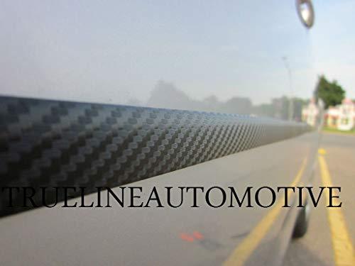 Custom Cut To Fit Black Carbon Fiber Side Door Exterior Molding Guard Trim Kit