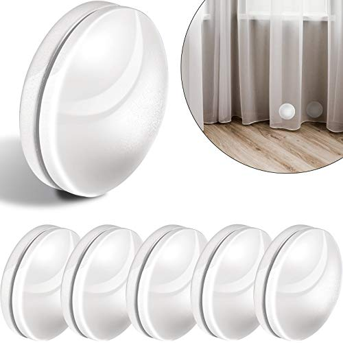 Jetec 6 Sets Magnetic Curtain Weights Drapery Weights Magnet Window Curtain Pendant Weights Tablecloth Magnets for Shower Curtain Liner to Stop from Being Blowing (White)