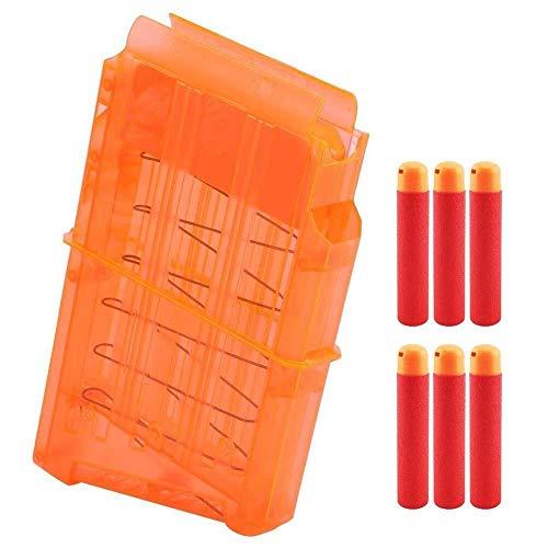 Soft Bullet Clip Dart Magazin Clip, Magazin Clip Ersatz mit 6 Darts for Nerf N-Strike Mega Centurion Blaster Einzigartiges Handwerk