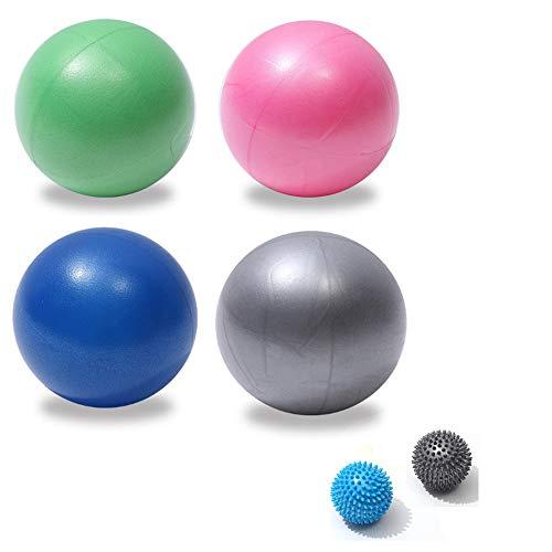 CDblue Gymnastikball Mini Pilates Ball Yoga Ball 23cm, inkl Aufblasen Röhrchens, Für Fitness, Reha, Rückentraining und Coordination Herren Damen Kinder