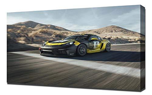 Lilarama (Compatible with 2019-Porsche-718-Cayman-GT4-Clubsport-V1- Art Leinwandbild - Kunstdrucke - Gemälde Wandbilder