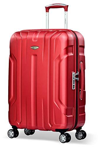 Eminent Valigia X-tec 66cm 70L Valigia viaggio & leggera Superficie anti-graffio 4 Ruote doppie Lucchetto TSA Rosso