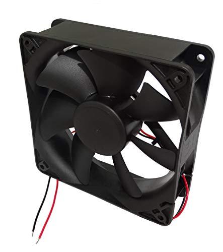 AERZETIX: Ventilador para Caja de Ordenador PC 24V 120x120x38mm 234,4m3/h 48dBA 3100rpm 9.2W 0.383A Vapo 2 Cables 24AWG C14590