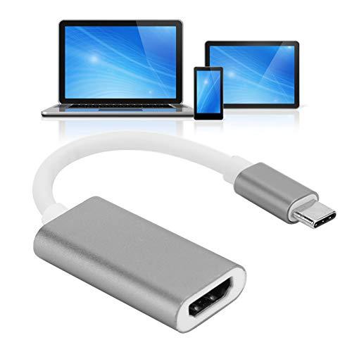 SALALIS Adaptador USB C a, Adaptador USB 3.1 Tipo C Tipo C para monitorizar el Dispositivo de Viaje para conectarlo a una Pantalla en Movimiento para transmitir Audio/Video(Silver Gray)