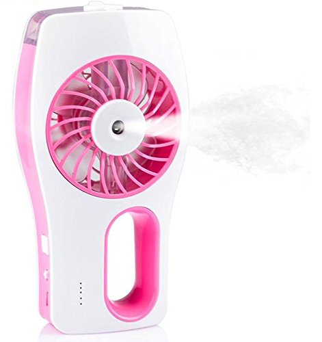 Mini Ventilador Climatizador Umidificador Com Bateria Recarregavel Rosa (VEN-2)