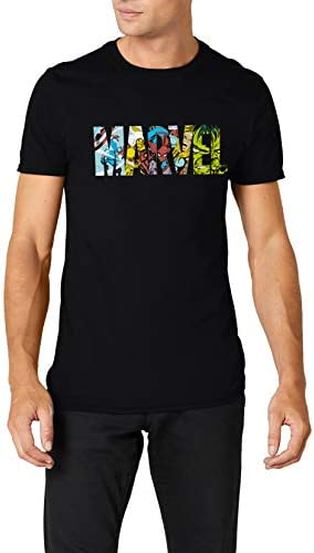 Marvel Comic Strip Logo T-Shirt Camiseta para Hombre: Amazon ...