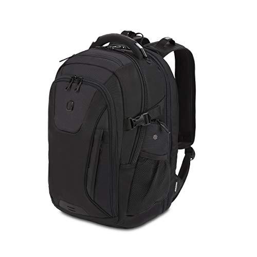 SWISSGEAR 5358 ScanSmart Laptop Backpack, Fits 15 Inch Laptop, USB Charging Port (Black Stealth)
