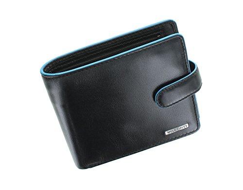 Visconti Alps Kollektion TOM Leder Brieftasche, doppelt gefaltet, mit RFID-Schutz   ALP86 Schwarz